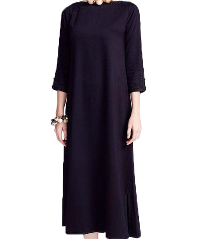 Josephine Dress: Black with Black