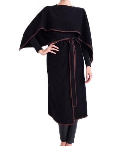Nawal Cape: Black with Chocolate