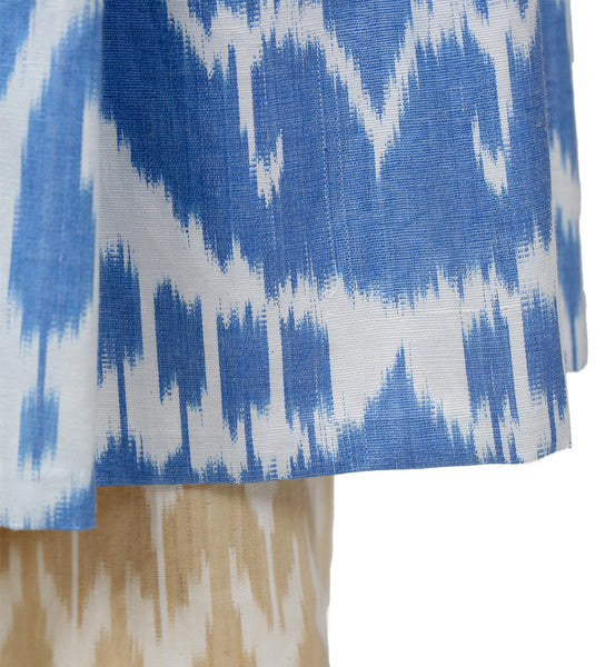 Double Layer Ikat Skirt: Blue