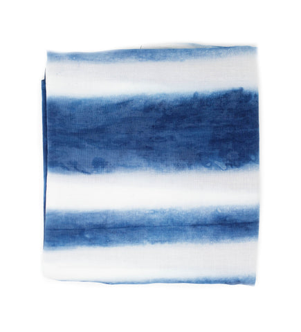 Bari Indigo Silk Cotton Scarf