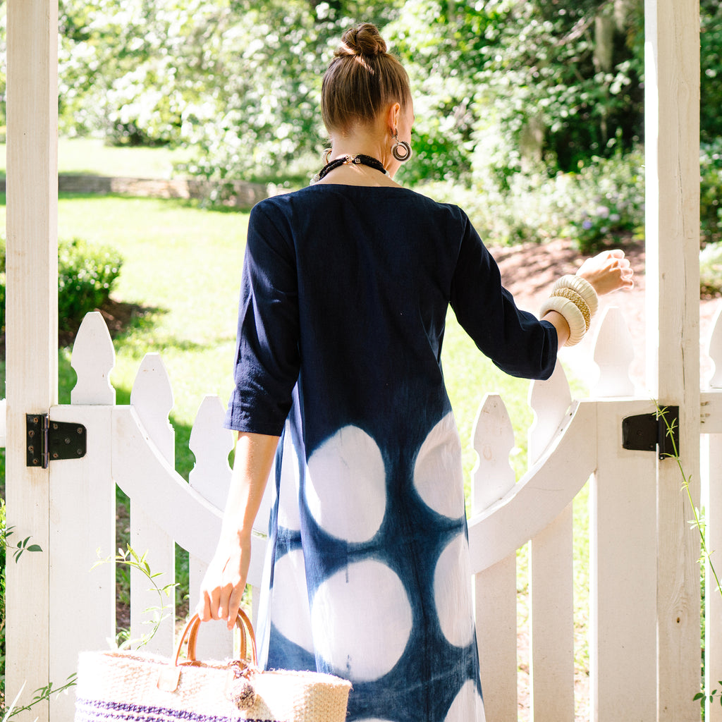 Bluetiful Dress with Circles