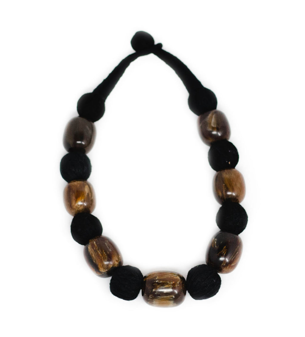 Brown Resin Knotted Choker