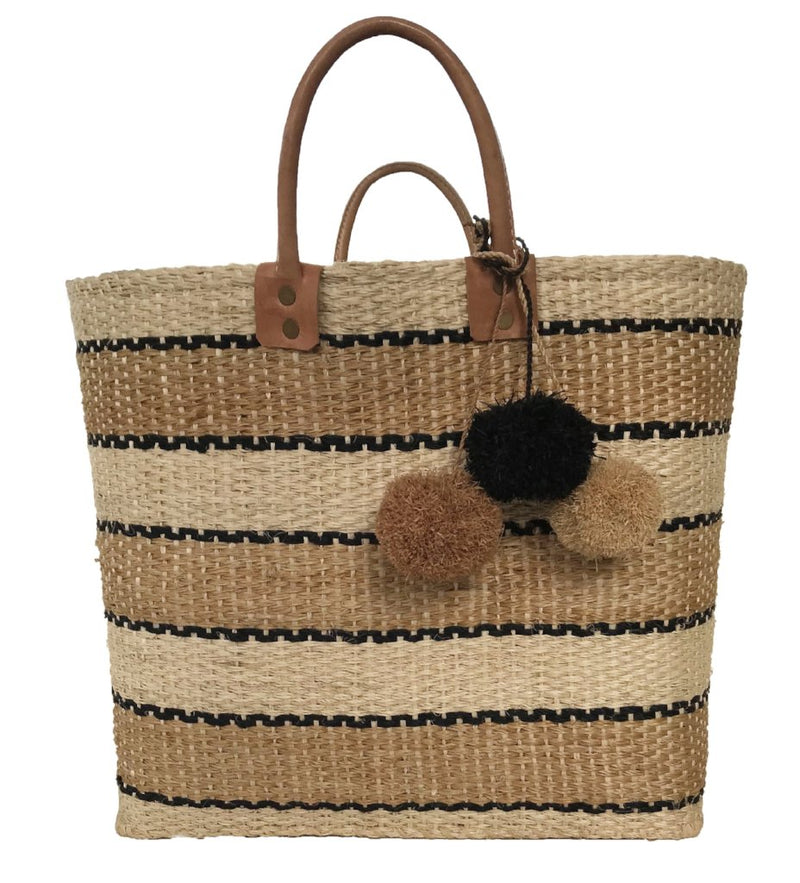 Capri Bag: Natural and Black