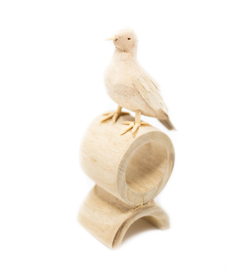 Carved Bird Napkin Ring