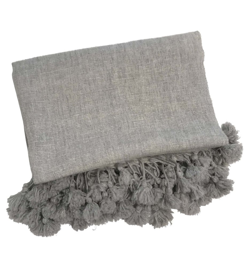 Cashmere Handwoven Shawl: Light Grey
