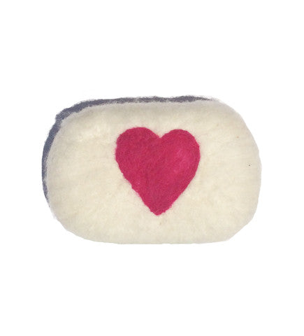 The Charleston Weekender Hand Felted Soap: Heart