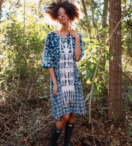 The Oaxaca Dress: Indigo
