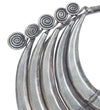 Chinese Silver Necklace: Five Tier with Swirls