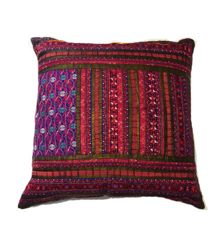 Chinese Minority Pink Pillow