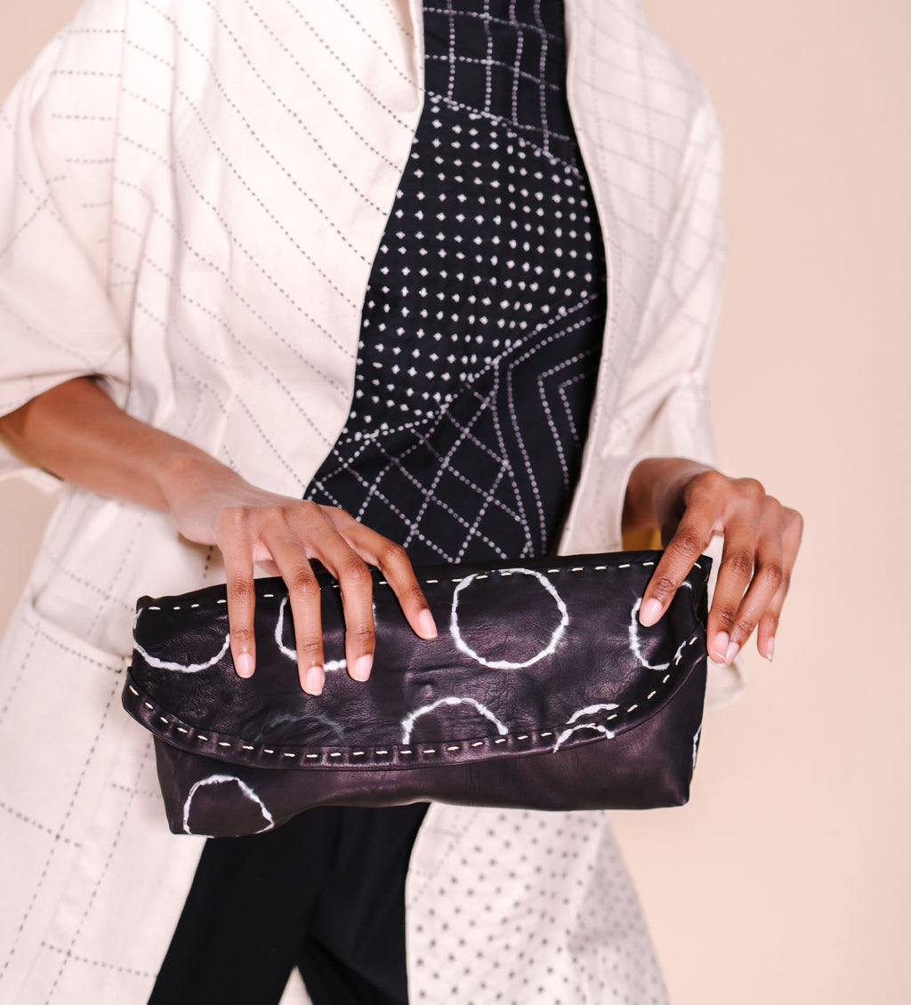Chuchu Fold Over Clutch: Black