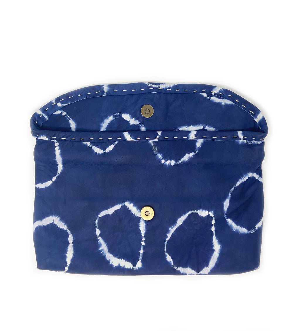Chuchu Fold Over Clutch: Navy