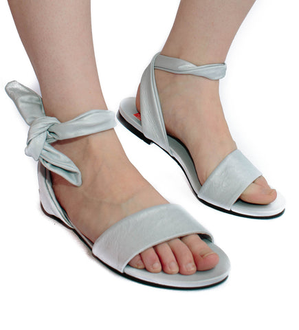 Ankle Wrap Sandal: Cloud