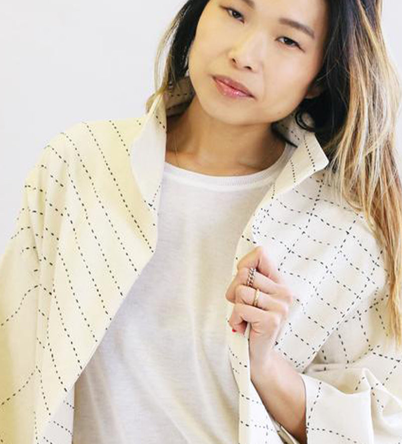 Cocoon Jacket: Bone