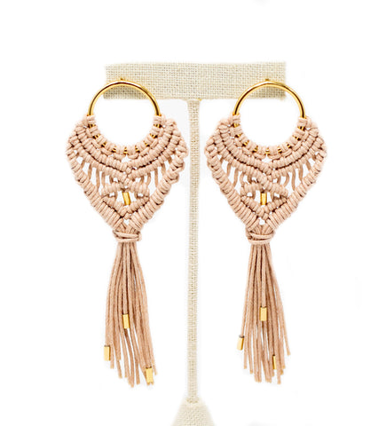 Tempus Earrings: Blush