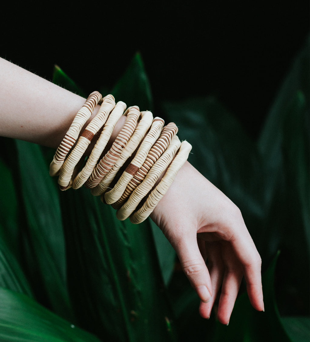 Colombian Natural Woven Bangles