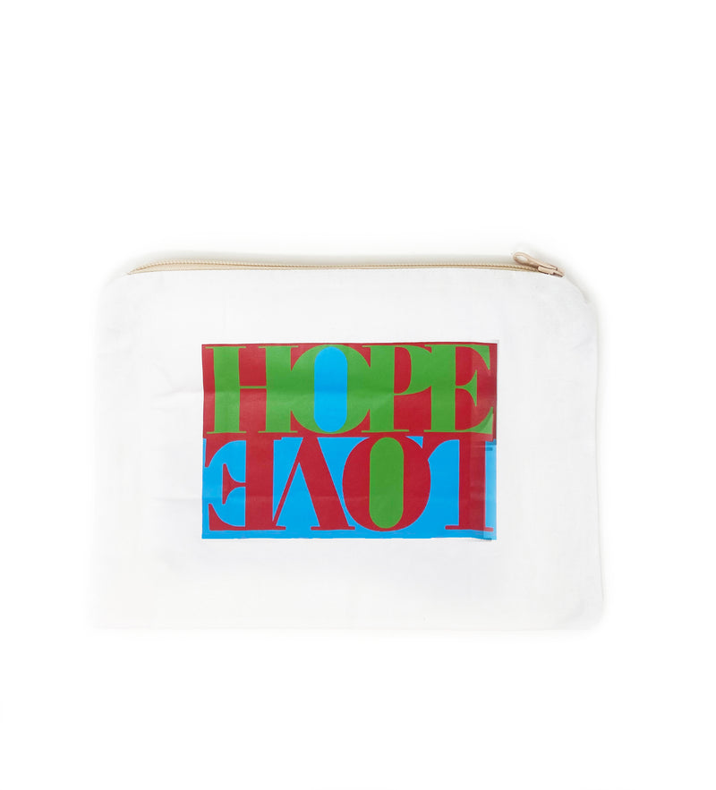 Hope + Love Cosmetic Bag: Blue, Green, Red
