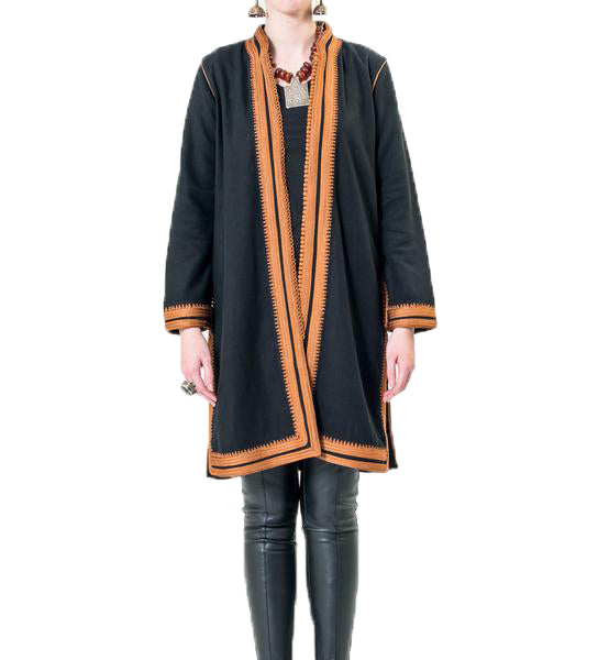 Women's Moroccan Jacket: Copper on Black
