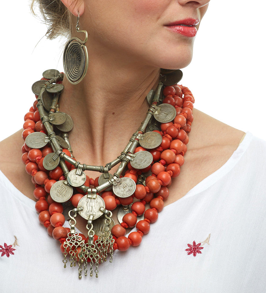 A Touch of Coral Necklace