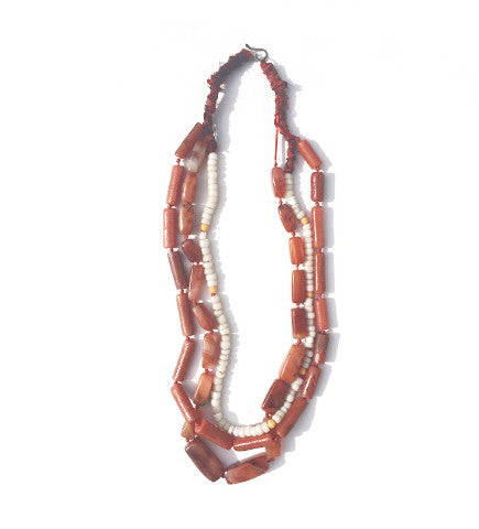 Coral White Three Strand