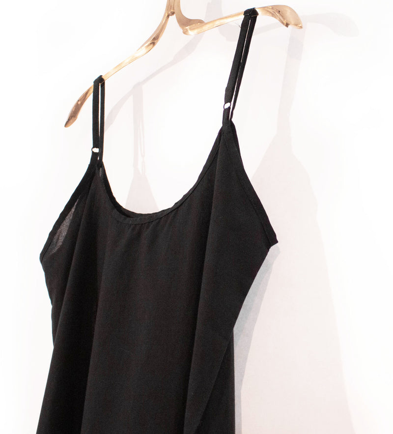 Cotton Slip: Black