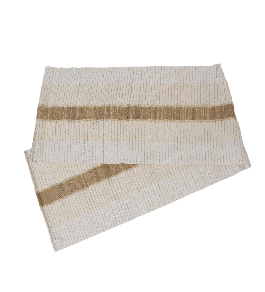 White Vetiver Table Runner