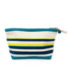 Ande Stripe Clutch: Navy Blue/White