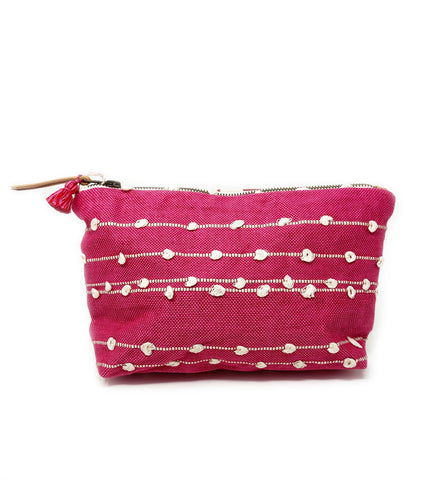 Fold Over Velvet Ikat Clutch: Cobalt and Silver