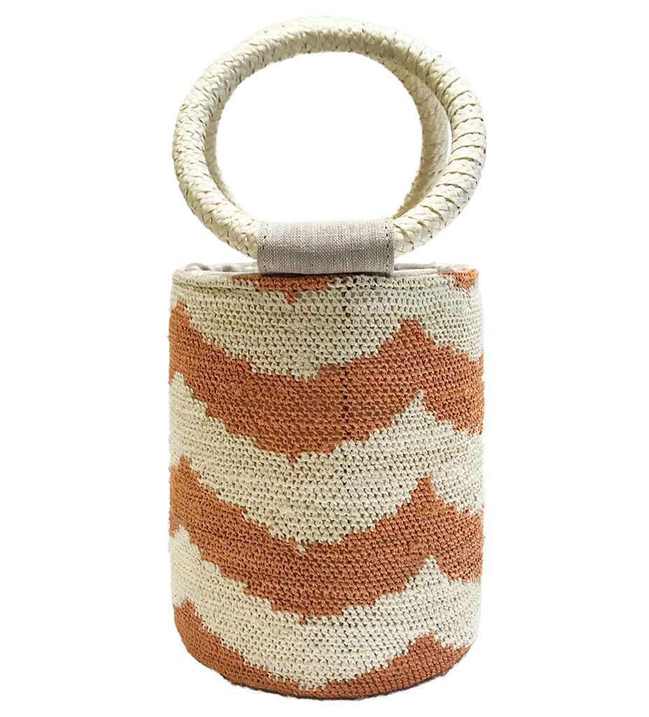 Cylinder Bag: Blush/Natural
