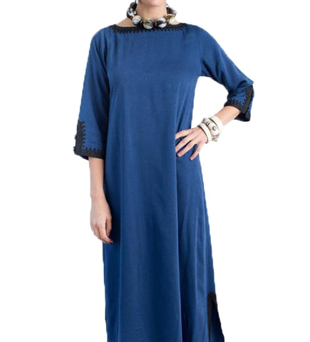 The Samarkand Dress: Blue