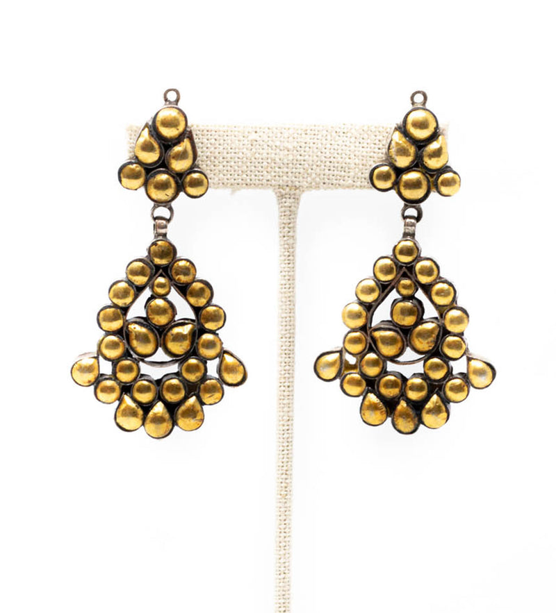 Dharmu Gold Chandelier Earrings