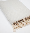 Ethiopian Cotton Bath Sheet: Natural with Navy Stripes