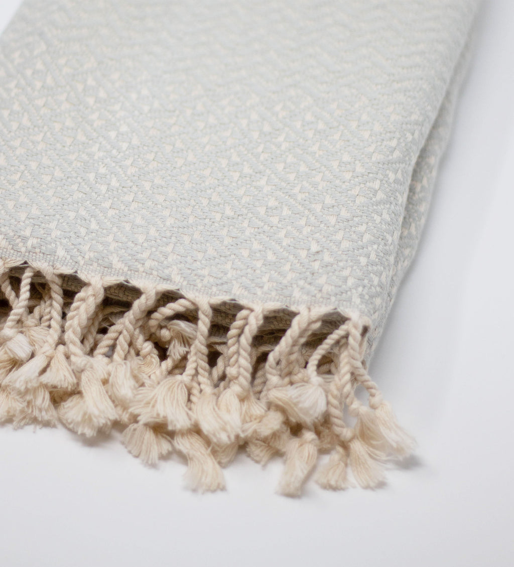 Double Sided Throw: Light Grey