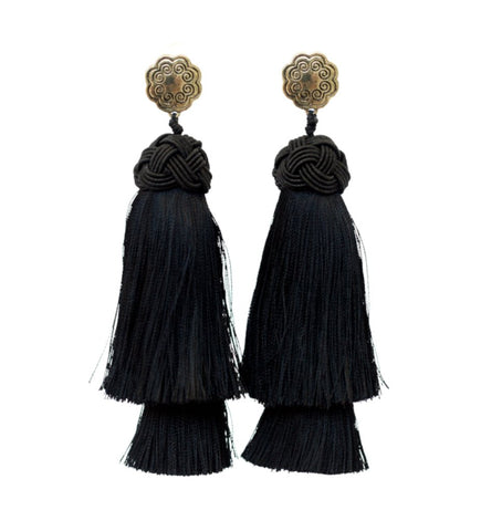 Single Orb Earrings: Dark