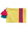Double Tassel Stripe Pouch: Yellow