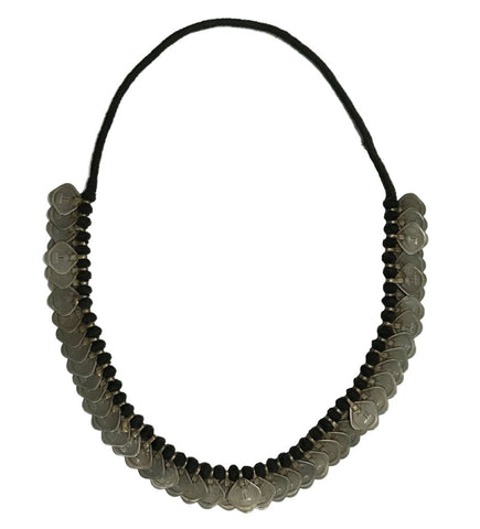Black and White African Bone Necklace