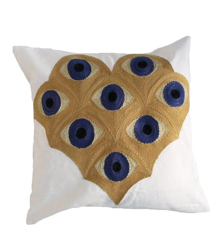 Embroidered Eye Pillow: Gold