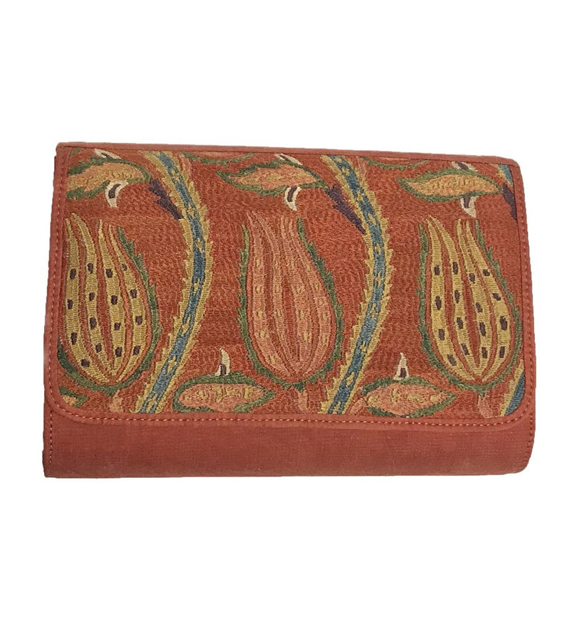 Embroidered Clutch: Lotus