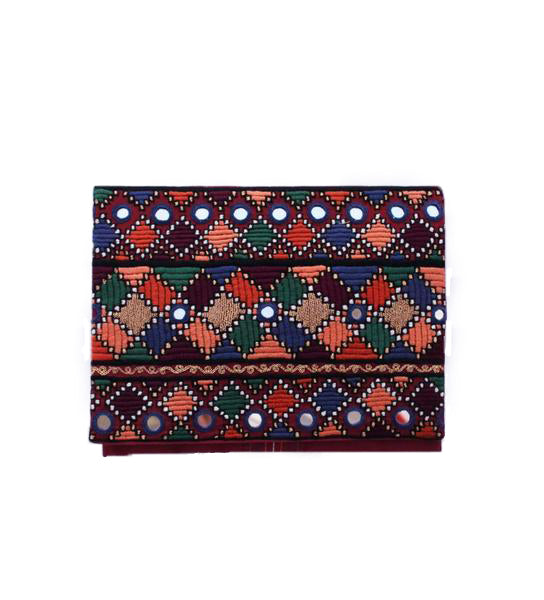 Embroidered Clutch: Tetris