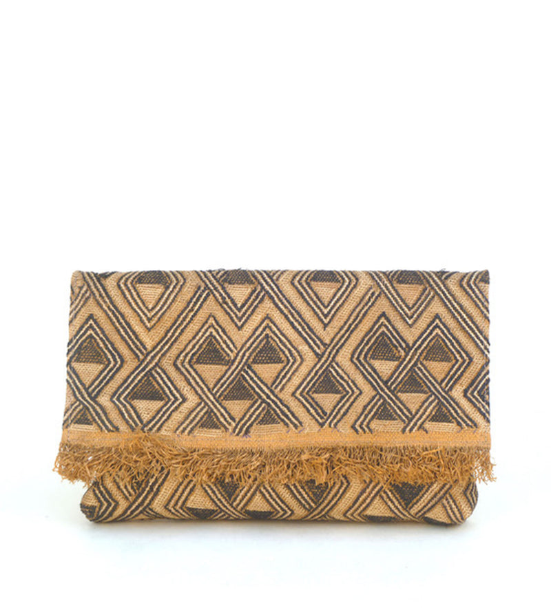 Envelope Clutch with Fringe: Pyramids
