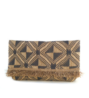 Envelope Clutch with Fringe: Diagonal Diamond