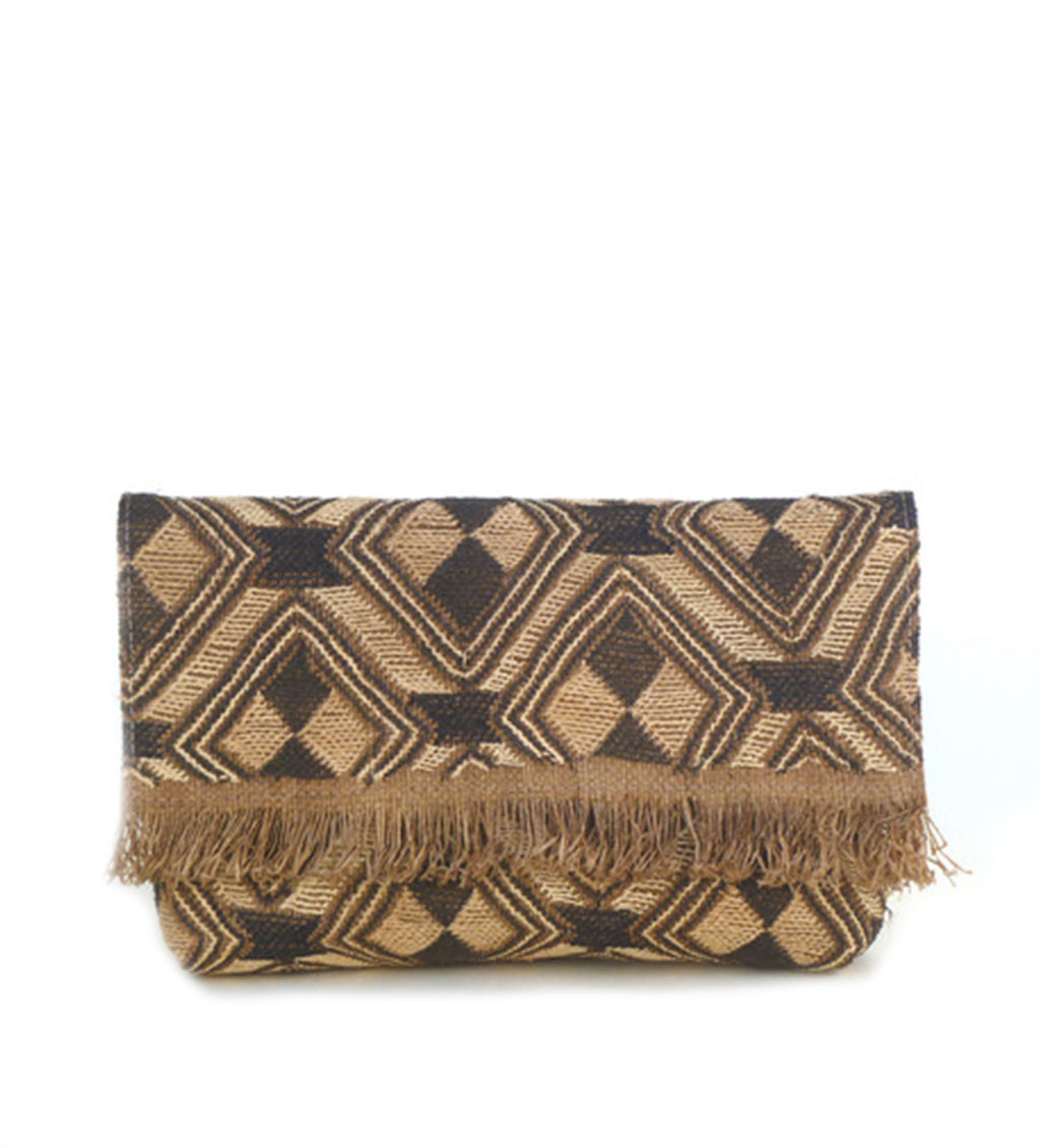 Envelope Clutch with Fringe: Diamond