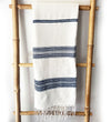 Ethiopian Cotton Bath Towel: Natural with Gray Ribs