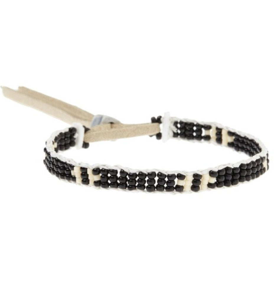 Extra Small Mayan Warrior Bracelet: Black