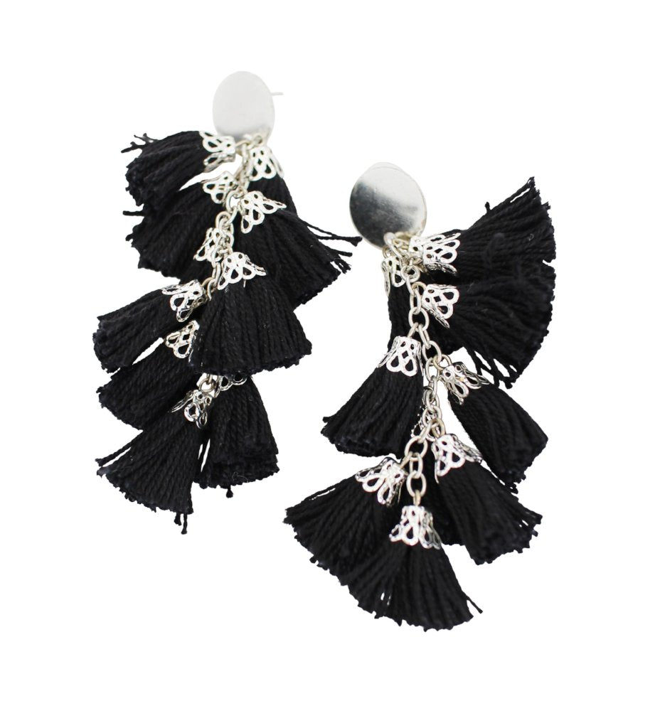 Fiesta Earrings: Black