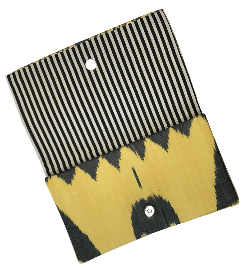 Fold-Over Ikat Clutch: Checkerboard