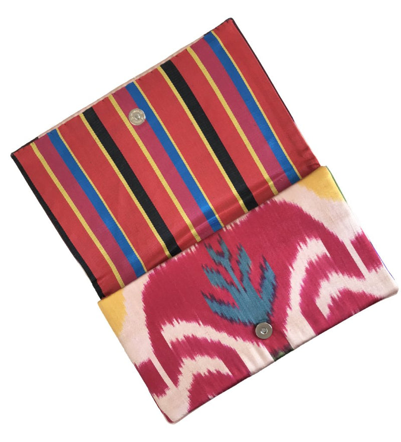 Fold-Over Ikat Clutch: Pops of Color