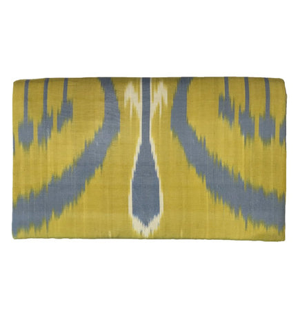 Fold Over Velvet Ikat Clutch: Black Rectangle