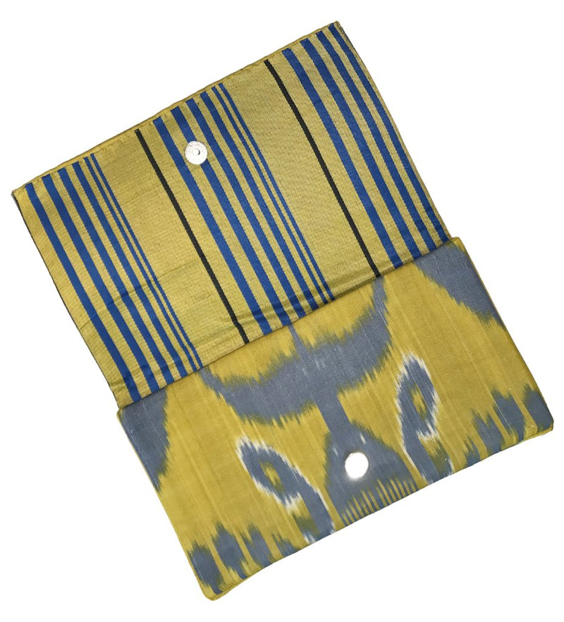 Fold-Over Ikat Clutch: Summer Skies