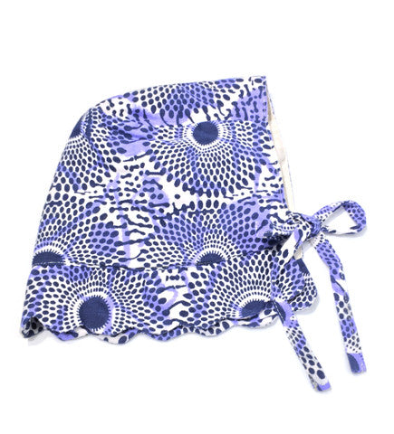 Blue Printed Bonnet