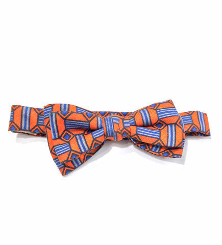 Baby Bowtie: Orange and Blue